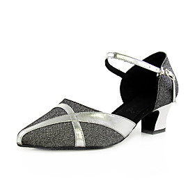 Fabric/ Leatherette Upper Dance Shoes Ballroom Latin/ Modern for Women