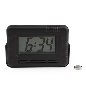 LCD Digital Car Dashboard Desk Clock with Night Light