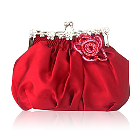 Silk With Rhinestone Evening Handbags More Colors Available