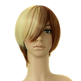 Capless Top Grade Quality Synthetic Light Brown Costume Party Wig