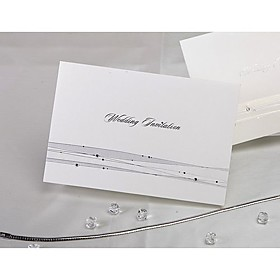 Shining Ringstones Wedding Invitation (set of 50)