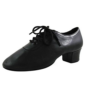 Ballroom Latin Shoes Real Leather Upper Dance Shoes Men and Kids Practice Shoes