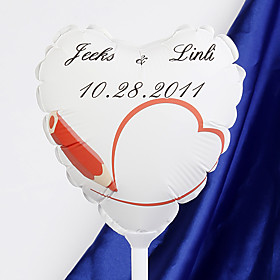 Personalized Heart-shaped Wedding Balloon - Drawing Love