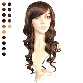 Capless Mid-long Light Brown Curly Hair Wig 15 Colors To Choose