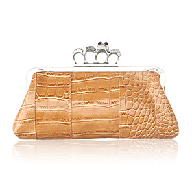 Faux Leather With Rhinestone Evening Handbags/ Clutches/ Top Handle Bags More Colors Available