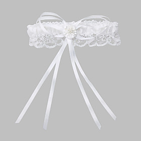 Sophisticate Polyester With Imitation Pearls Wedding Garters