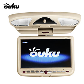 Ouku 9 Inch Roof Mount Car DVD Player with Game Swivel Free Headphones