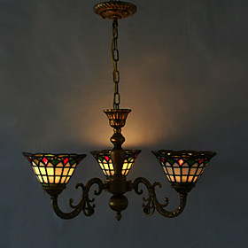 40W Antique Inspired Chandelier with 3 Lights