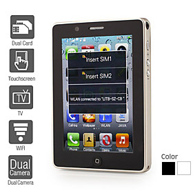 T8100 - Dual SIM 3.5 Inch Touch Screen Cell Phone (WiFi, Dual Camera, TV)