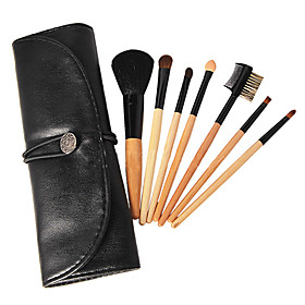 New 7 Pcs Mini Starter Makeup Brush Kit Set