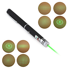 5 in 1(5 Patterns Green Laser Cap) 5mw 532nm Astronomy Powerful Green Laser Pointer (2xAAA)