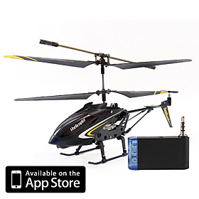 3 Channel i-Helicopter 888-107 with Gyro Controlled by iPhone/iPad/iPod iTouch (Black)