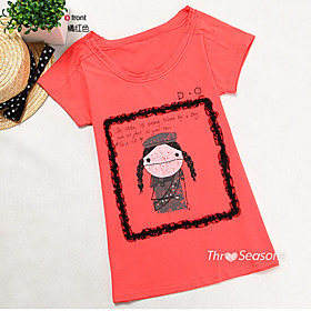 TS Double Lace Pattern T-shirt