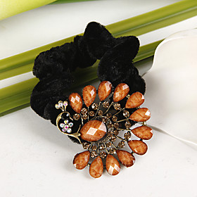 Orange Peacock Head Band (set of 4)