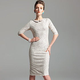 TS Vintage Style Lace Sheath Dress