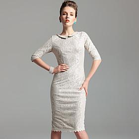 TS Vintage Style Lace Sheath Dress