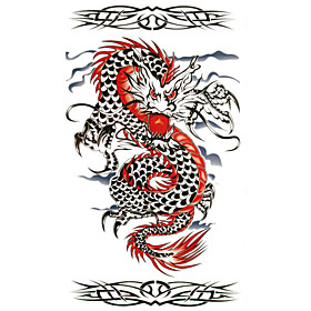 5 Pcs Dragon Waterproof Temporary Tattoo (20cm 10cm)