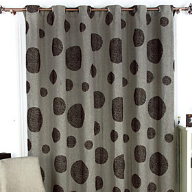 Remember Brown Print Traditional Window Curtain (Pair)