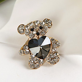 Lovely Crystal Bear Brooch (set of 4)