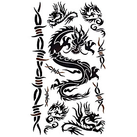 5 Pcs Flying Dragon Waterproof Temporary Tattoo (20cm 10cm)