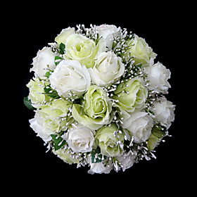 Elegant Satin Round Wedding Bouquet