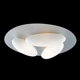 Modern Flush Mount with 3 Lights (G9 Bulb Base)
