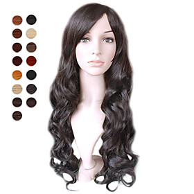 Capless Long Natural Black Deep Curly Hair Wig 15 Colors To Choose