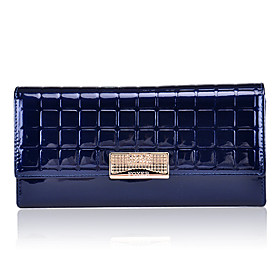 Patent Leather With Metal Wallet