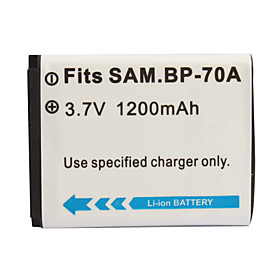 1200mAh 3.7V Digital Camera Battery SB-BP70A for SAMSUNG ST70 and More