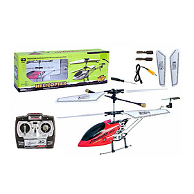 3CH RC Helicopter Alloy Body With Infrared Radio Remote Control Helicopters Indoor Toy(Red)(YX02688R)