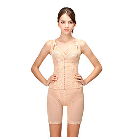Cotton Non-Detachable Straps Front Busk Closure Corsets Daily Wear Shapewear