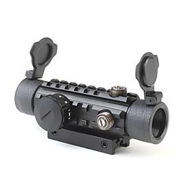 1 x 30 Reflex Laser Sight Rifle Scope (Red  Green Laser Configurable)