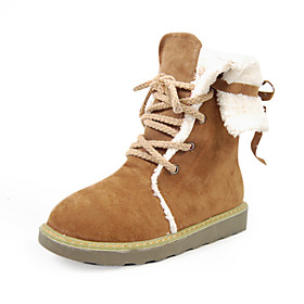 Suede Upper Low Heel Ankle Boots With Lace-up Honeymoon Shoes More Colors Available