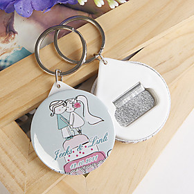 Personalized Bottle Opener / Key Ring - Kissing (set of 12)