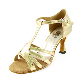 Ladies High Heel Latin Shoes Leatherette Upper Dance Shoes Ballroom Practice Shoes