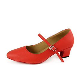 Real Leather Upper Heels Modern Dance Shoes Ballroom Practice Shoes for Women
