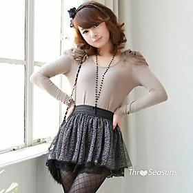 TS Leopard Chiffon Mesh Skirt