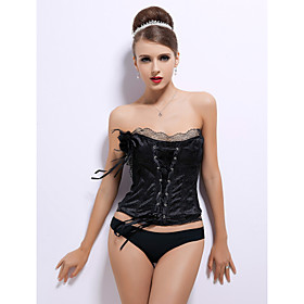 Satin Strapless Corsets Special Occasion Shapewear More Colors Available