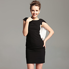 TS Vintage Style Cowl Neck Sheath Dress