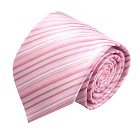 Pink Stripe Microfibre Tie
