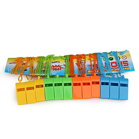 12-Pack Colourful Plastic Whistle