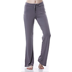 YOGAYF-Eco Friendly Cotton Simple Design Dark Gray GYM Sports Yoga Pants Women's Fitness Pants