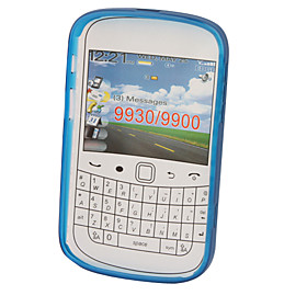 Protective TPU Translucent Case for Blackberry 9900 (Dark Blue)
