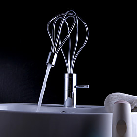 Post Modern Brass Kitchen Faucet (Chrome Finish)