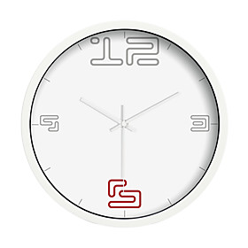Black and White Mute Wall Clock(8309-JDHB24)