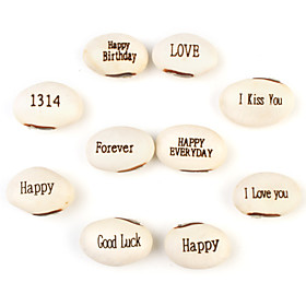 White Magic Beans with Assorted Messages (10-Pack Growing Plant)