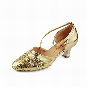 Sparkling Glitter Upper Dance Shoes Ballroom Modern Shoes for Women More Colors