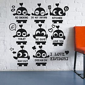 Little Robots Set Wall Stickers (1985-P31)