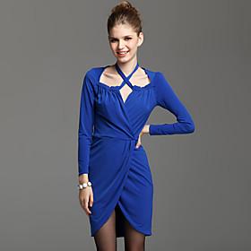 TS Criss Cross Long Sleeve Jersey Dress(2 colors)