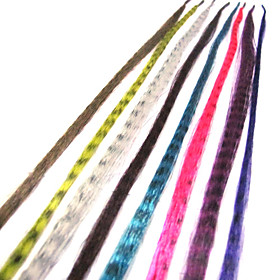 15 Inch Multicolor Synthetic Feather Hair Extensions(40 Pcs)